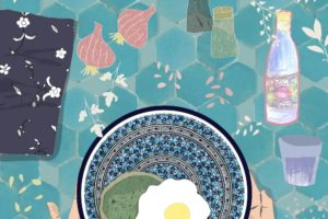 Food Illustration – Eclectic Moroccan Table