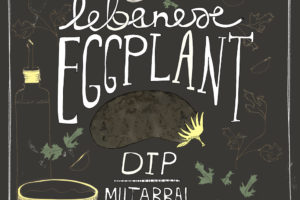 Food Hand-Lettering – Eggplant Dip