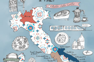 Travel Illustration – Italy Illustrated Map