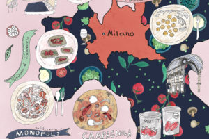 Travel Illustration – Milan Illustrated Map