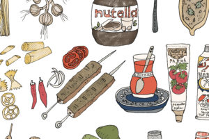 Food Illustration – Mediterranean Culinary Tour